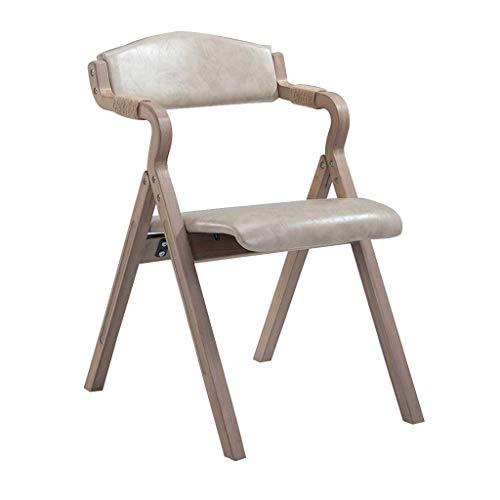 YAMEIJIA Silla de Comedor de Madera Maciza Retro con reposabrazos sillón Plegable...