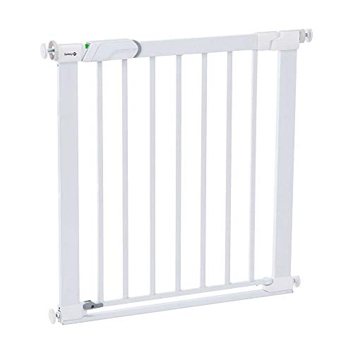 Safety 1st Easy Close Metal - Barrera de seguridad metálica para puertas, Blanco