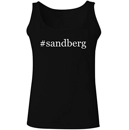 #sandberg - Women's Hashtag Soft Graphic Tank Top, Black, XX-Large