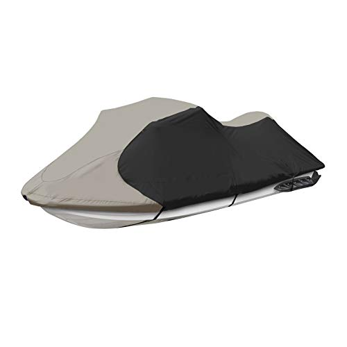 JETPRO Trailerable PWC Watercraft Jet Ski Cover Gray/Black Color Fits from 126'-135'(3 Seater)