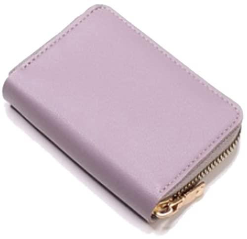[phalatina] カードケース カード入れ カードホルダー 大容量 コンパクト 軽い 軽量 ポケット サイズ メンズ レディース ユニセックス PUレザー 合成皮革 (ライトパープル)