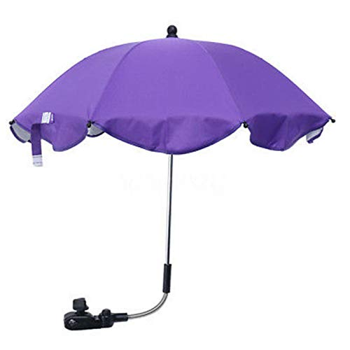 Paraguas de cochecito, universal, desmontable, con clip, para cochecito de bebé, flexible, brazo abierto, manual, para sillas de playa, cochecitos, vagones