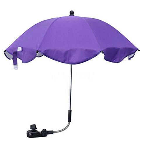 DASNTERED Sombrilla para silla de paseo con protección UV, paraguas desmontable para cochecito de bebé, brazo flexible, plegable, plegable, para cochecitos de bebé, senderismo al aire libre