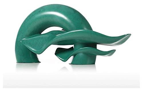 DFJU Escultura Desktop Escultura Resina Natural Artesanato Estátuas de Modelo Acessórios para casa Ornamentos Decoração de escritório Acessórios Presentes Figurinhas de colecionador