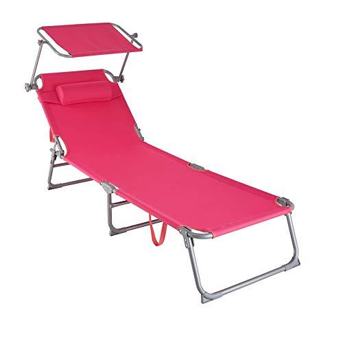 MaxxGarden - Tumbona plegable de aluminio para camping,...