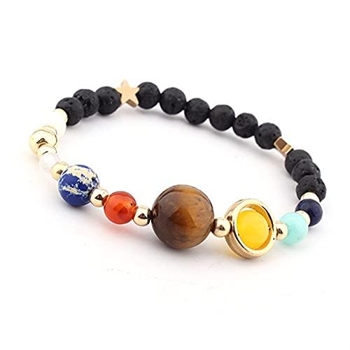 JKLJKL Bracelets Pulsera Ajustable Pulsera de Piedra Natural Regalo de Las Cuentas Pulsera (Metal Color : B6043)