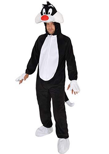 Ciao Gatto Silvestro Looney Tunes costumre Originale Adulto (Taglia Disfraces, Blanco y Negro, Talla nica para Hombre