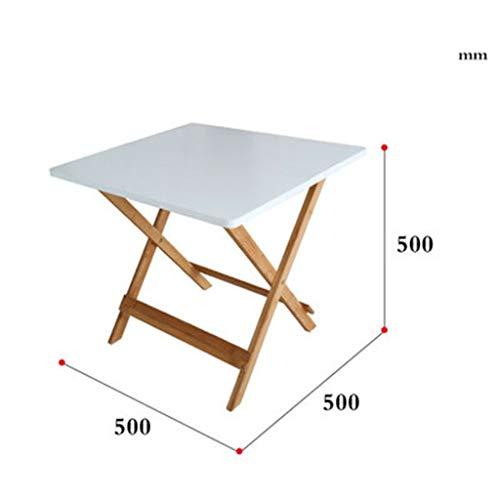 C-J-Xin Folding Bureau, eenvoudige houten salontafel voor in de tuin, outing, draagbare eettafel, comfortabele opslag, geschikt voor 2-4 personen