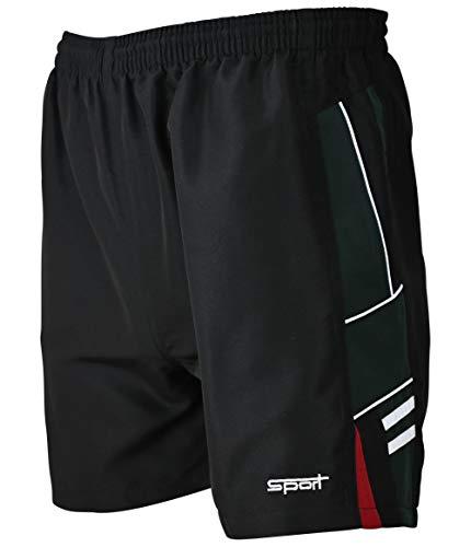 Soltice Shorts, Sporthose Kurz, leichte Jogginghose, Trainingshose, Fitnesshose schnelltrocknend (M bis 3XL) (XL, Schwarz-Khaki)