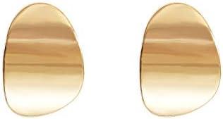 TIANHONGYAN Shimmering Disc Metal Dangle Stud Earrings Round Statement Metal Geometric Dangle Earrings Retro Curved Earring Earrings for Women Girls Fashion Jewelry Gifts