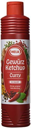 Hela Curry Gewürz- Ketchup scharf (1 x 800 ml Tube)