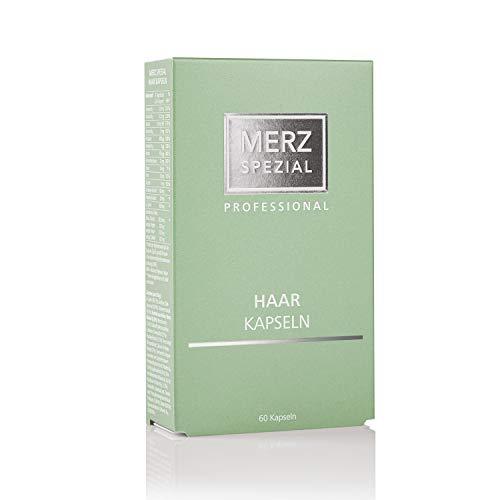 Merz Spezial Professional Haarkapseln - mit Vitamin B Komplex für stärkere Haarwurzeln und eine bessere Haarstruktur - Nahrungsergänzungsmittel (1 x 35,5 g / 60 Kapseln)