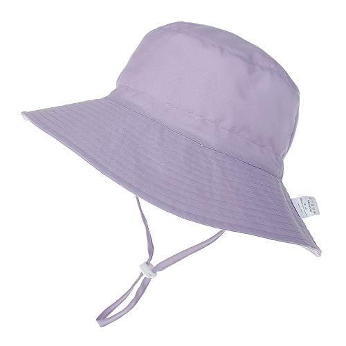 LACOFIA Sombrero de Sol para bebé niña Ajustable Gorro Verano de Pescador...