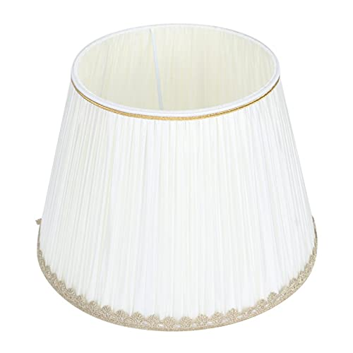 Pantallas de lámpara Blancas Pantalla de luz Colgante, Pantalla de Tela Pantallas de lámpara de Tambor Grande Reemplazo para...