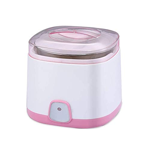 UNU_YAN Moderne Einfachheit Joghurthersteller Maschine Edelstahl Liner, LED-Indikator, verdickter Liner, umweltfreundliche Materialien, Mehrzweckjoghurtmaschine (Farbe: Rosa)