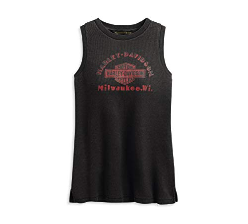 HARLEY-DAVIDSON Women's Classic Graphic Muscle Tank (Black, Large)