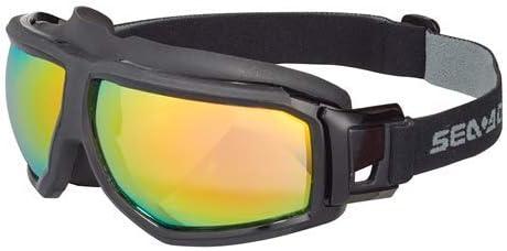 SeaDoo - Gafas protectoras de espejo antivaho, talla única, ajustables para deportes acuáticos, Windsurf, Kitesurf, Wakeboard, Moto de agua