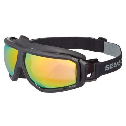 SeaDoo - Gafas protectoras de espejo antivaho, talla única, ajustables para deportes acuáticos, Windsurf, Kitesurf, Wakeboard, Moto de agua – Naranja