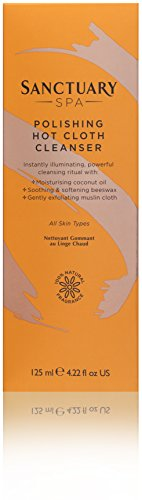 Sanctuary Spa Hot Cloth Cleanser, Double Cleanse Gesichtswasser und Musselintuch, 125 ml