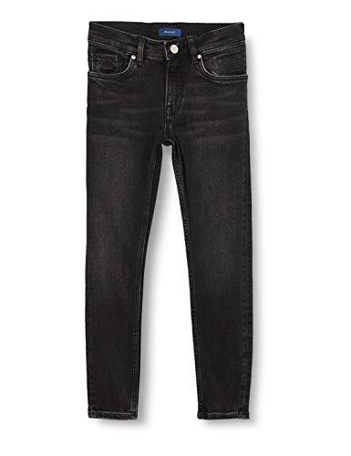 GANT Skinny Jeans Pantalón de Vestir, Black Raw, 146/152 para Hombre
