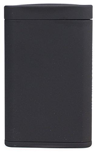 Dreams(ドリームズ) 携帯灰皿 ポケットアッシュトレイ スリム ハニカム 4本収納 ブラック MDL45284高さ7.9cm×幅5.0cm×厚さ1.4cm