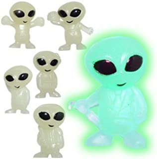 20 Tiny Glow in the Dark Alien Figures