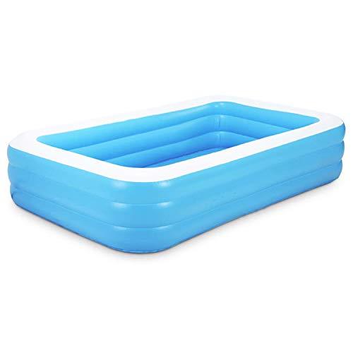 QASIMO Piscina Gonfiabile Rettangolare Blu Spesso PVC (155 CM)