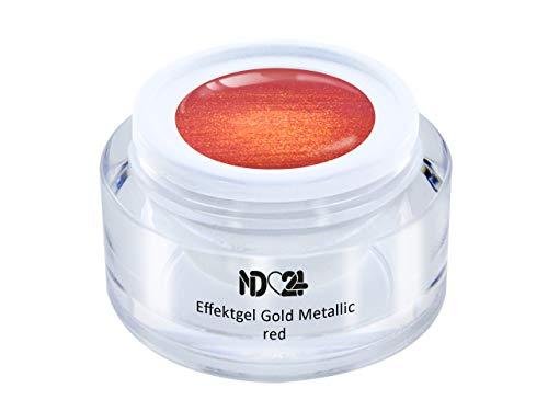 Uv Led Effekt-Gel Gold Metallic Red - Rot - Studio Qualität - Made In Germany - 5ml