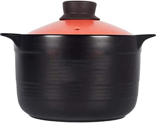 DUDDP Cacerola Casserole Clay Pot Casserole Casserole Terracotta Stef Stew Pot Clay Pot - Resistencia a Alta Temperatura, Almacenamiento térmico, No Stick (Color : A, Size : Capacity 5.2L)