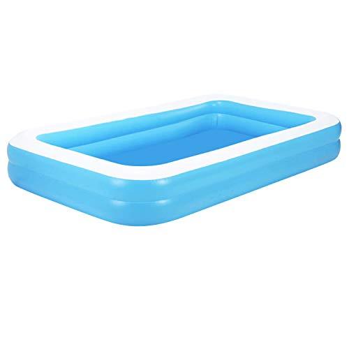 Piscina hinchable de lujo, piscina infantil familiar, piscina infantil Family Ocean Ball, piscina infantil plegable, de PVC, duradera, para familia, jardín, exterior, 155 x 108 x 46 cm