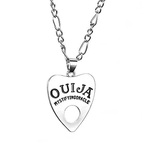 SPS Vintage Mujeres Hombres gótico Ouija Forma Tablero Colgante Collar de Cadena