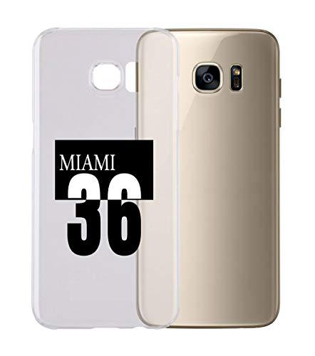 Cover Cover Compatibile con Tutti i Modelli di Samsung - 36 Miami - con Protezione della Fotocamera Custodia Trasparente Ultra Sottile