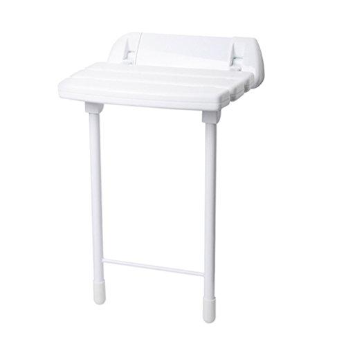 Douchekruk, wand/badkuipkruk, inklapbaar, douchekruk, wandbevestiging, schoenenkruk, voor stoelen, opvouwbaar, voor ouderen en gehandicapten, antislip stoel in wit