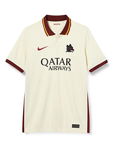 Nike Roma Y NK BRT STAD JSY SS AW T-Shirt, Unisex Bambini, Pale Ivory/Fossil/(Dark Team Red) (Full Sponsor), M