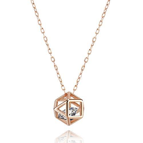S925 zilveren mode ketting prachtige kunstmatige diamant zirkoonkristal ketting elegante sieraden vrouwen meisjes sieraden accessoires valentijnsdag cadeau