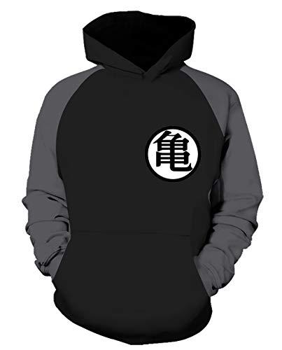 NUOHUX Dragon Ball Z Hoodie Men 3D Print Pullover Sweatshirt Funny Hoody with Pocket (c5,M)