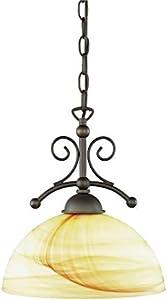 Wofi 6128.01.09.0000 Lacchino - Lámpara de techo ajustable (metal, casquillo E27, 75 W, 240 V, 37 x 25,4 x 10,6 cm), color crema