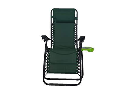 Pincho Sillón Relax Gravedad Cero, Tumbona Plegable Multiposiciones para jardín, terraza, Camping (Verde 1 Unidad)