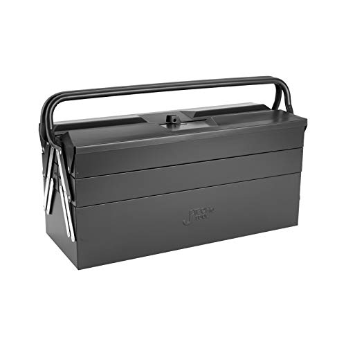 Jetech 21 Inch Cantilever Metal Tool Box, Portable 5-Tray Steel Tool Chest Cabinet, Dark Grey
