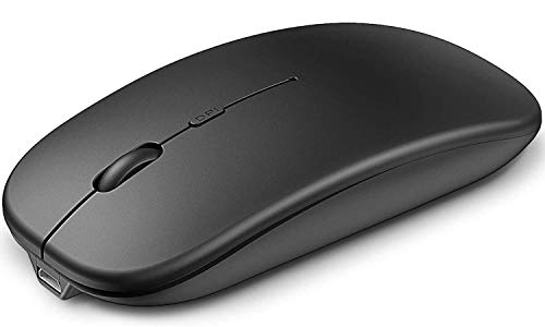 Cocoda Mouse Wireless, Mouse Gaming Silenzioso Ricaricabile con Ricevitore Bluetooth USB, Adattatore di Tipo C, 4 Livelli DPI Regolabili, Mouse Bluetooth per Laptop, PC, Mac, MacBook PRO, iPad