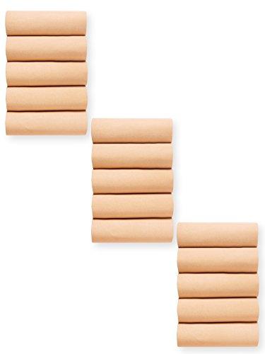 Lingerelle - Lot de 15 collants mousse 20 deniers - femme - Taille : 3 - Couleur : Chair