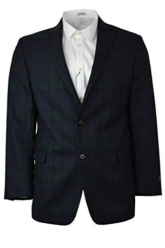 Brooks Brothers Mens 116444 Regent Fit Wool Sports Coat Blazer Blue Green Blackwatch Plaid (42R Regular)