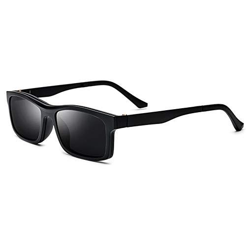 Zonnebril TR90 Half Frame Clip-on gepolariseerde zonnebril Magneet Spiegel gemonteerde Spectacle Frame kan worden uitgerust met bijziendheid Bril Vissen Golf Goggles gepolariseerde zonnebril