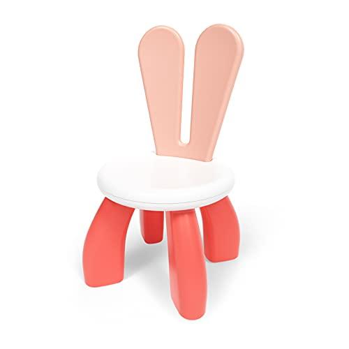 XJD Kinderstuhl Kinderhocker fürs Kinderzimmer abnehmbar, Cartoon-Design, 25 cm Sitzhöhe für drinnen und drauße, Spielen oder Schreibtisch Belastbar bis 80 KG (Pink)