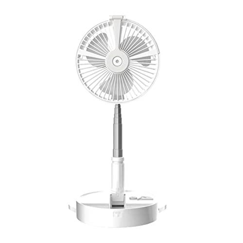 Tik LP Ventilador de refrigeración del circulador de Aire/de Aire Plegable de 8 Pulgadas con Vidrio de Dibujo telescópico, humidificador Incorporado y luz LED, para Interiores, al Aire Libre, Picnic