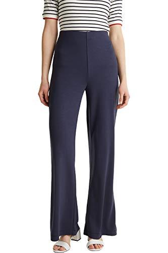 ESPRIT Collection - Pantalones de Punto con Pierna Ancha