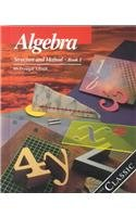 Algebra: Structure and Method Book 1 0395461405 Book Cover