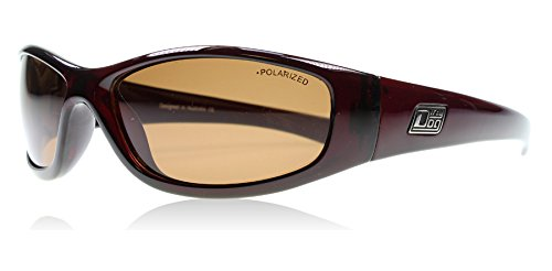 Dirty Dog 52789 Rouge Foncé Buzzer Wrap Sunglasses Polarised