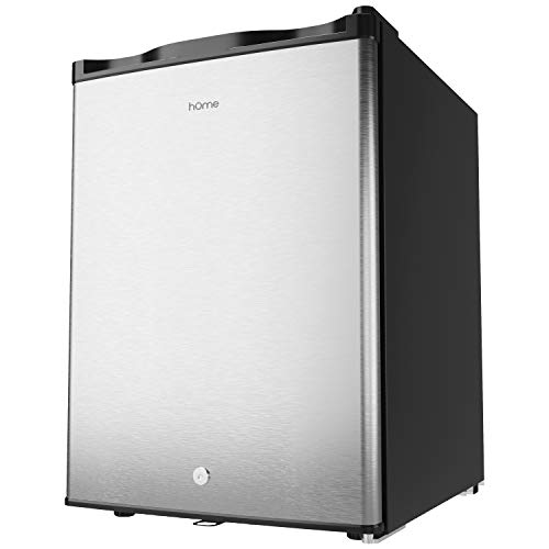 hOmelabs Upright Freezer - 2.1 Cubic Feet Compact Reversible Single Door Vertical Freezer with Child Door Lock - Table Top Mini Freezing Machine with Removable Shelves for Office Dorm or Apartment
