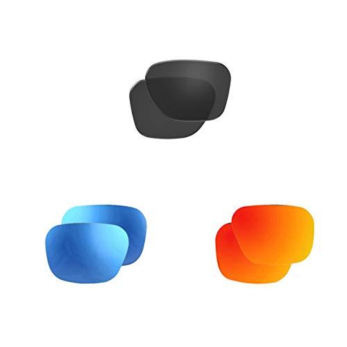 Polarized Smoke & Polarized Mirror Blue & Mirror Red Lens Sets (Model A8)
